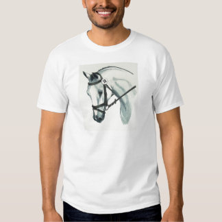 On Contact WHITE Dressage Horse Tee Shirts