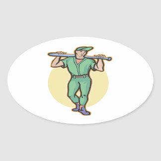 On Deck Oval Sticker