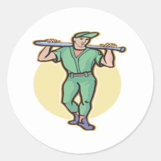 On Deck Round Sticker