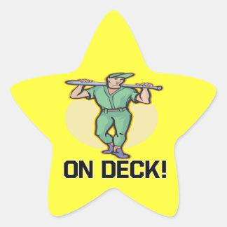 On Deck Star Sticker