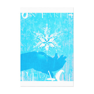 On Earth Peace Stretched Canvas Print