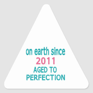 On earth since 2011 aged to perfection triangle sticker