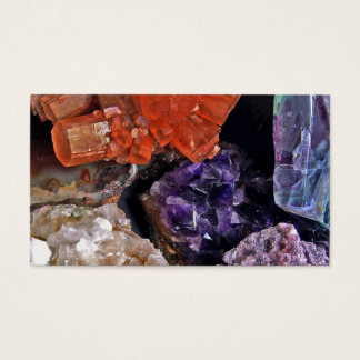 On Edge Crystal Patchwork Business Card