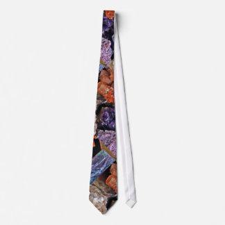 On Edge Crystal Patchwork Tie