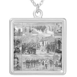 On Eviction Duty in Ireland Silver Plated Necklace