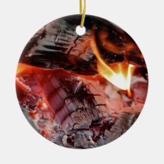 On Fire Round Ceramic Decoration