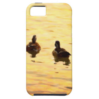 On Golden Duck Pond Case For iPhone 5/5S