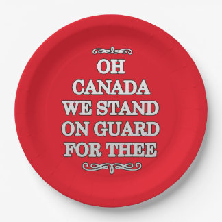 On Guard Canada Day Party Paper Plates