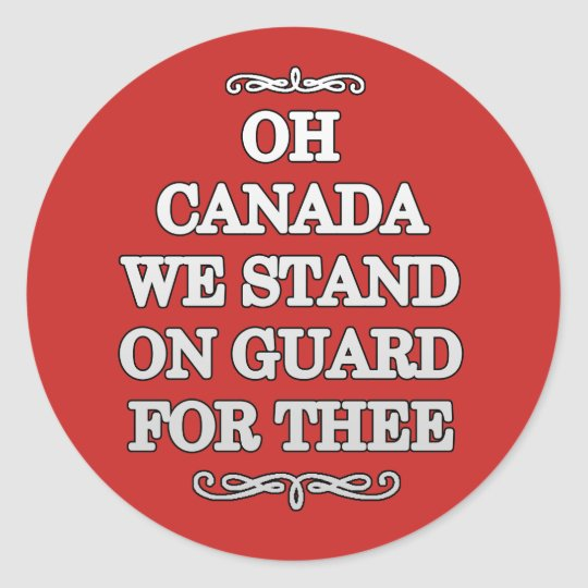 On Guard Canada Day Stickers