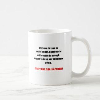 "On ""Having"" to do things Basic White Mug"