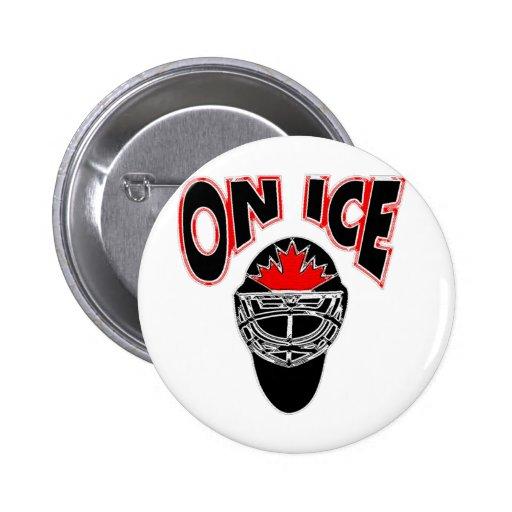 On Ice Logo-Black Mosaic Pin