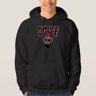 On Ice Logo-Black Mosaic Hoodie