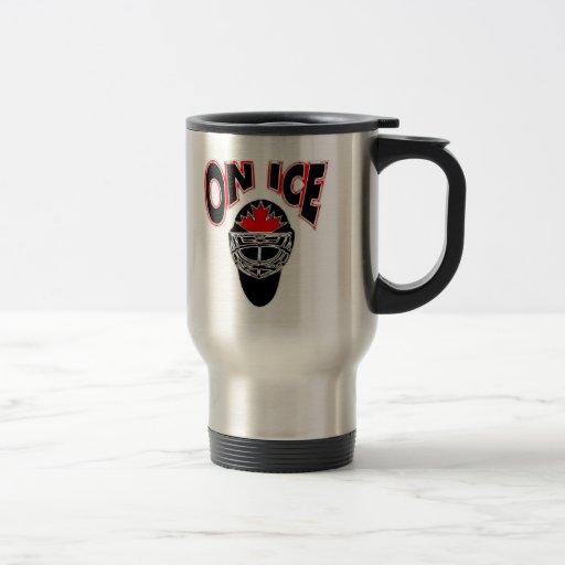 On Ice Logo-Black Mosaic Mug