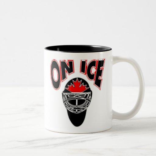 On Ice Logo-Black Mosaic Mugs
