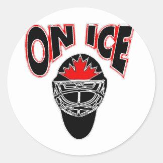 On Ice Logo-Black Mosaic Round Sticker