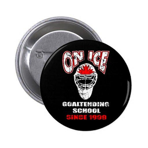 On Ice-Thrash Logo Pinback Button