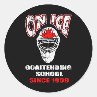 On Ice-Thrash Logo Round Stickers