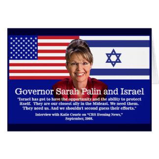 ON ISRAEL - Sarah Palin Quote Greeting Card