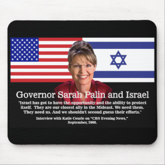 ON ISRAEL - Sarah Palin Quote Mouse Pad