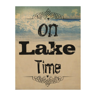 On Lake Time Lake Michigan Home Decor Wood Canvases