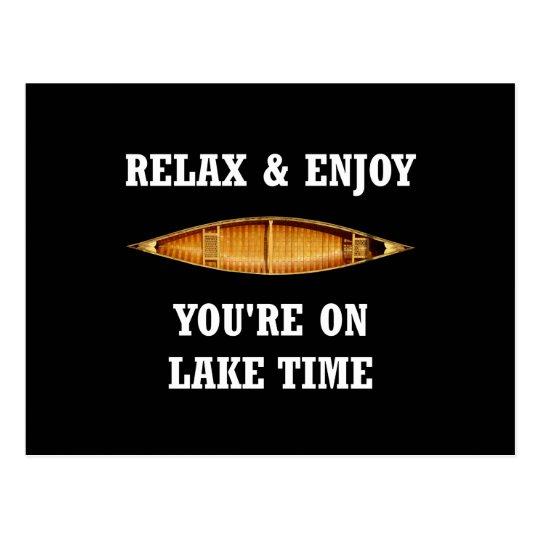 On Lake Time Postcard