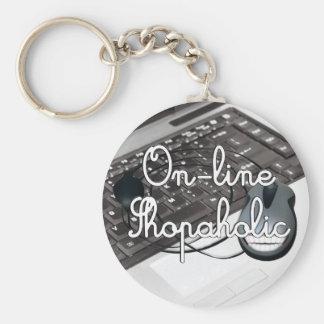 On-Line  Shopaholic Basic Round Button Key Ring