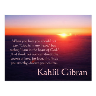 On Love - The Prophet by Kahlil Gibran Postcard