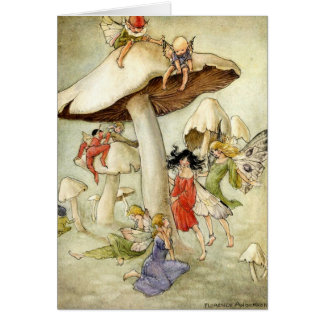 'On Mushroom Hill' Birthday Card