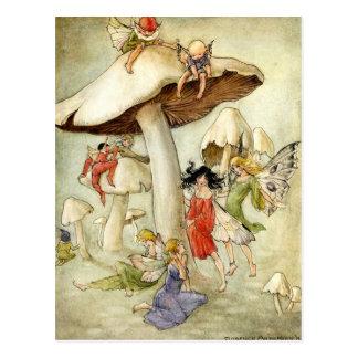 On Mushroom Hill - Postcard