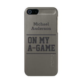 """""""On My A-Game"""" custom name cases"""