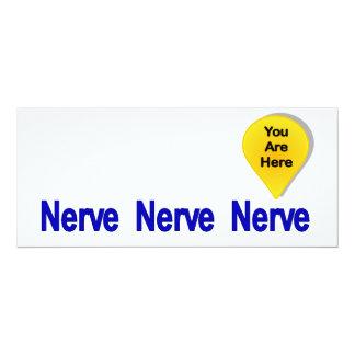On My Last Nerve 10 Cm X 24 Cm Invitation Card