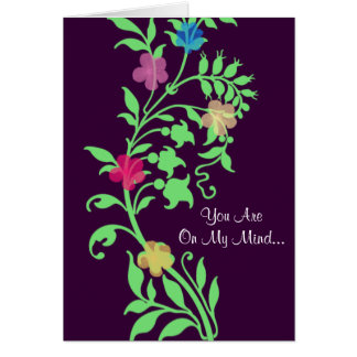 On My Mind... Greeting Card