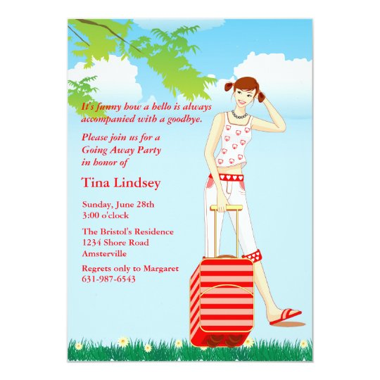 On My Way - Going Away Party Invitation