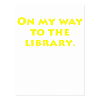 On My Way to the Library Postcard