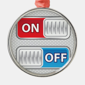 On Off Switch Web style Christmas Ornament