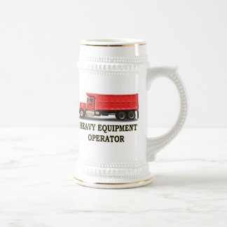 ON ROAD DUMP TRUCK BEER STEINS