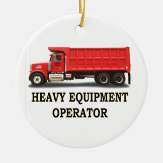 ON ROAD DUMP TRUCK CHRISTMAS ORNAMENT
