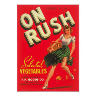 """""""ON RUSH"""" Label Poster"""