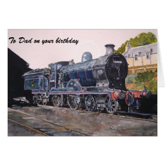 'On Shed' Caledonian railway's Steam Engine Greeting Card