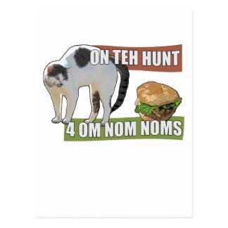 On Teh Hunt 4 Om Nom Noms Postcard