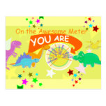 On the Awesome Metre You Are Amazingly Awesome Postcards
