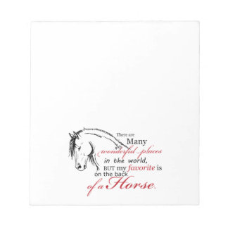 On the Back of a Horse Notepad
