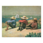 On the Beach, 1875 (w/c) Poster