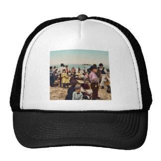 On the beach at Coney Island New York Hat
