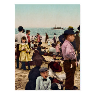On the beach at Coney Island New York Postcard
