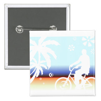 On the Beach Pinback Button