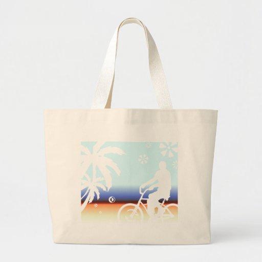 On the Beach Canvas Bags