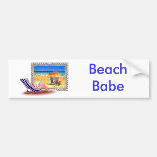 On the Beach Bumper Sticker