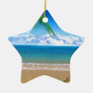 on the beach christmas ornament