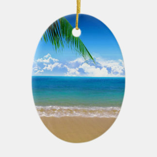 on the beach christmas ornament